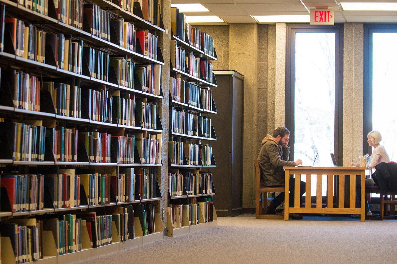 Bookshelf at ISU