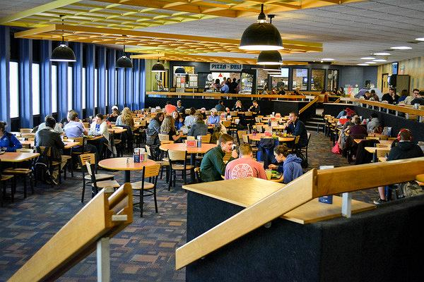 Indiana State university eatery and study space near library