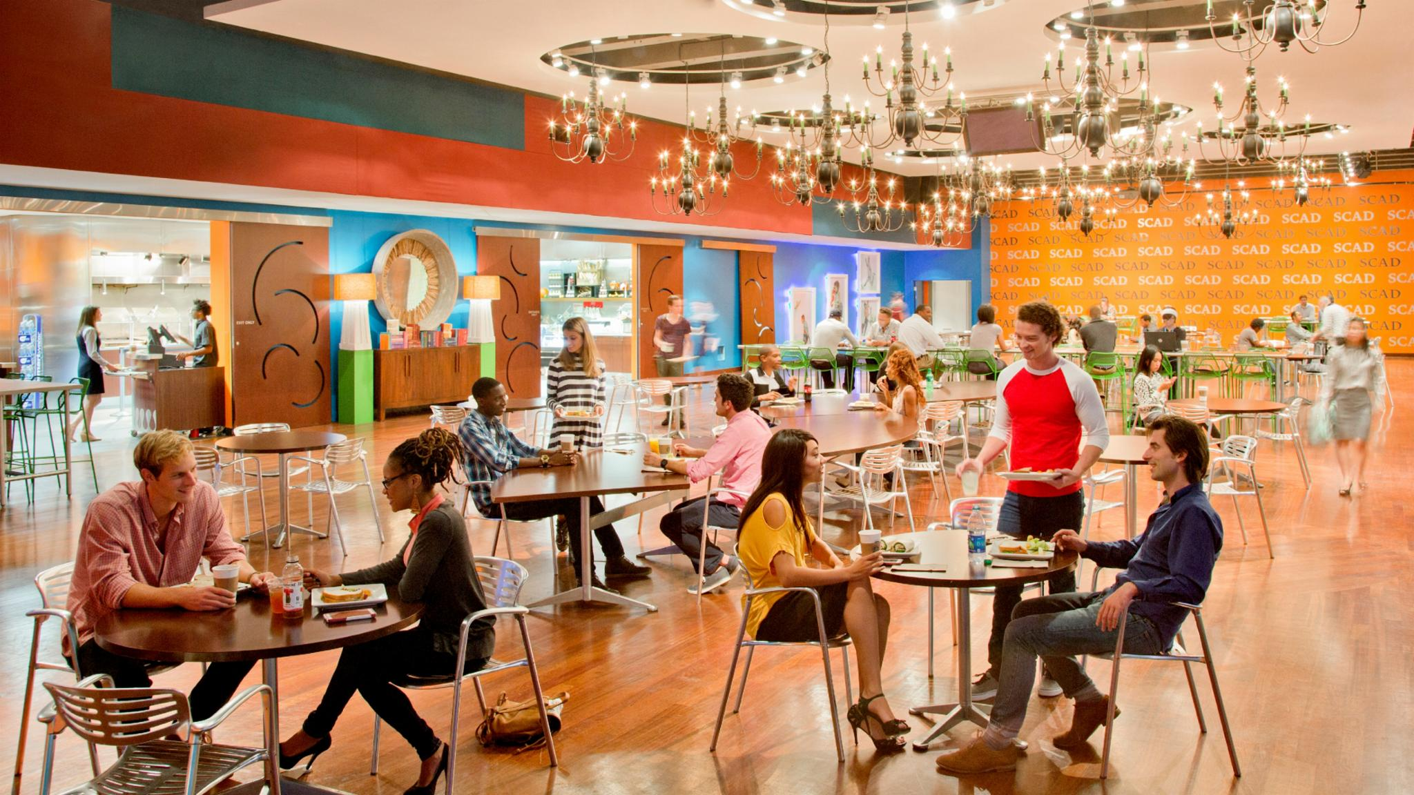 The Hub Dining Center Is Located On The Second Floor Of SCAD Atlanta.
