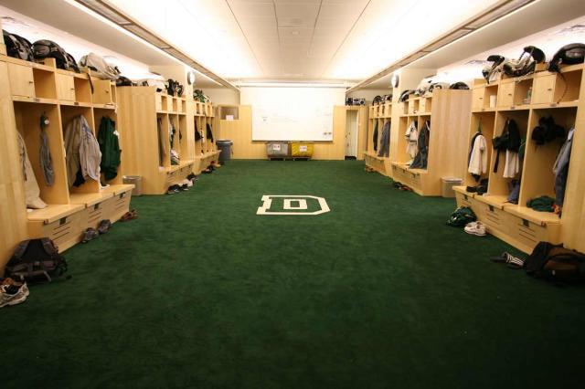 Dartmouth Football Locker Room In Floren Varsity House