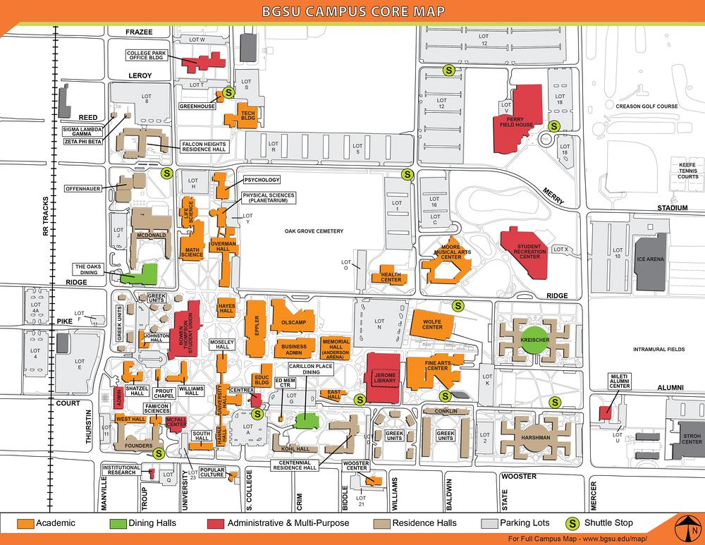 Bgsu Campus Map Bgsu Campus Map ~ AFP CV Bgsu Campus Map